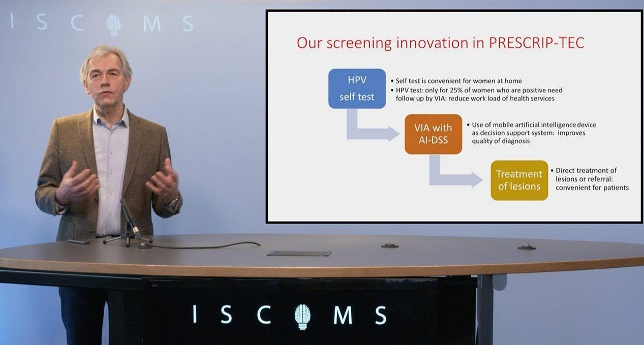 Jaap Koot talking about cervical cancer